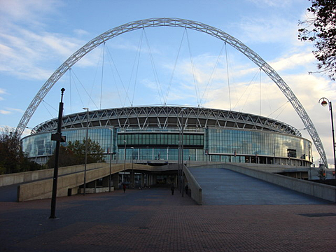Approaching Wembley Stadium